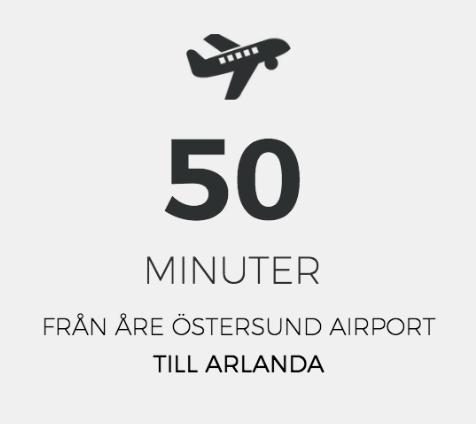 50 min från ösd flygplatsen till arlanda